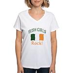 Irish Grils Rock Women's V-Neck T-Shirt