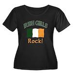 Irish Grils Rock Women's Plus Size Scoop Neck Dark