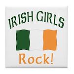 Irish Grils Rock Tile Coaster