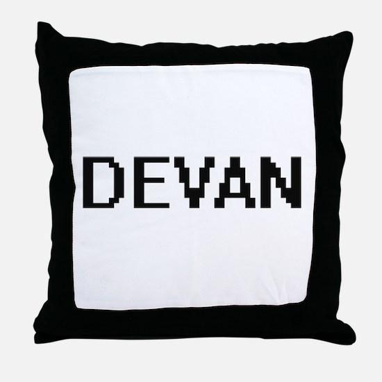Devan Digital Name Design Throw Pillow