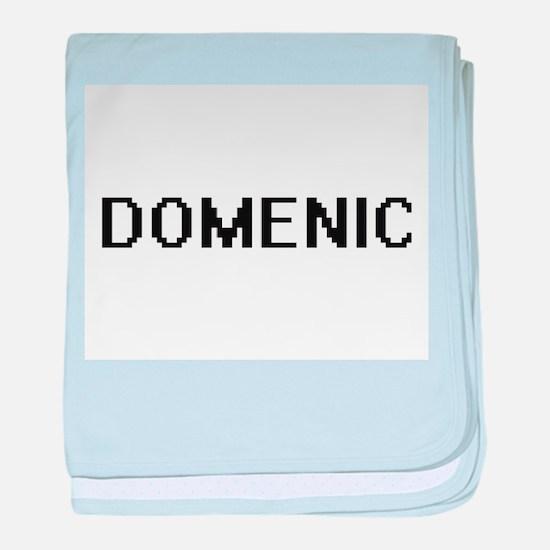 Domenic Digital Name Design baby blanket