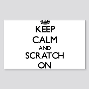 Keep Calm and Scratch ON Sticker