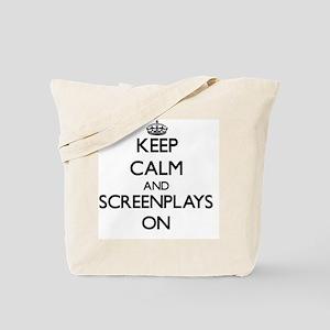 Keep Calm and Screenplays ON Tote Bag