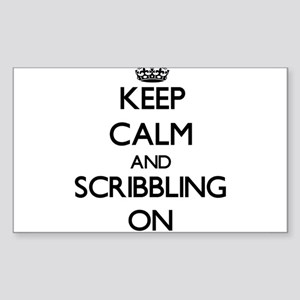 Keep Calm and Scribbling ON Sticker