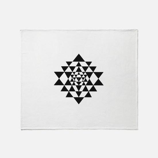 Sri Yantra Throw Blanket