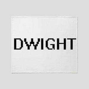 Dwight Digital Name Design Throw Blanket