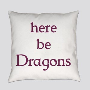 Here Be Dragons Everyday Pillow