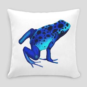 Blue Dart Frog Everyday Pillow
