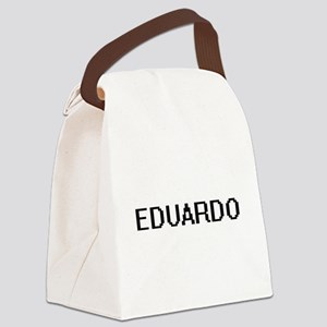Eduardo Digital Name Design Canvas Lunch Bag
