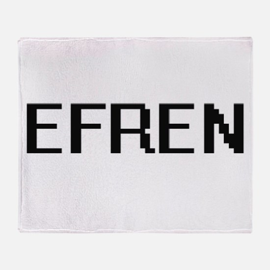 Efren Digital Name Design Throw Blanket