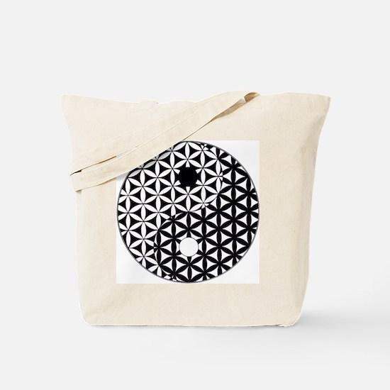 Yin Yang Flower of Life Tote Bag