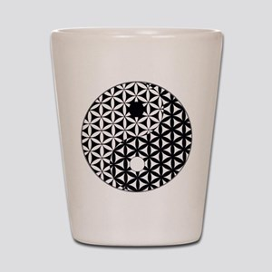 Yin Yang Flower of Life Shot Glass