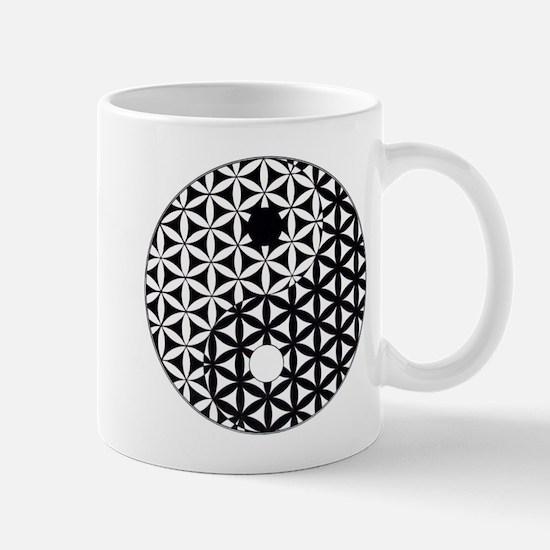 Yin Yang Flower of Life Mugs