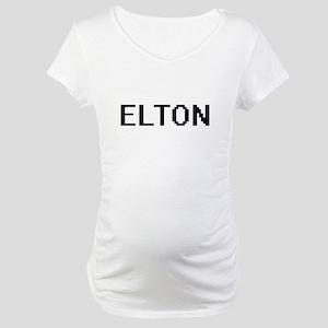 Elton Digital Name Design Maternity T-Shirt