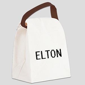 Elton Digital Name Design Canvas Lunch Bag