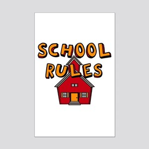 School Rules Mini Poster Print