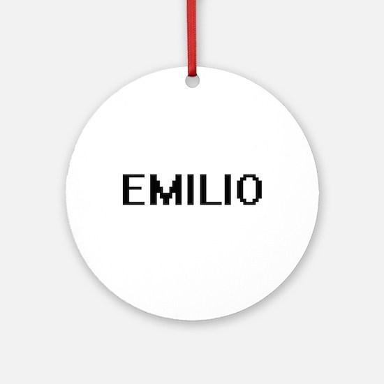 Emilio Digital Name Design Ornament (Round)