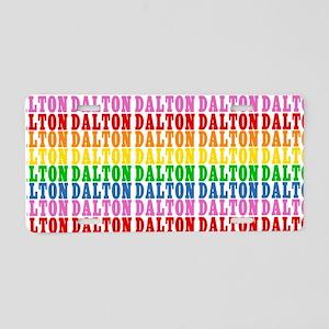 Rainbow Name Pattern Aluminum License Plate