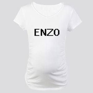 Enzo Digital Name Design Maternity T-Shirt