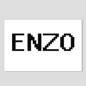 Enzo Digital Name Design Postcards (Package of 8)
