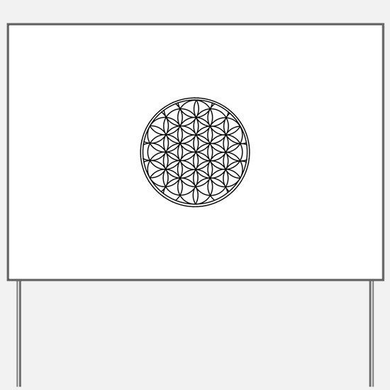 Flower of Life Yard Sign