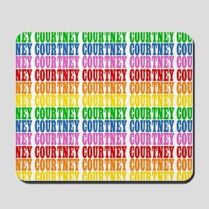 Rainbow Name Pattern Mousepad