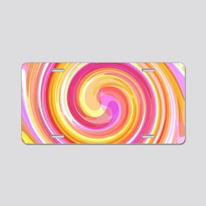 Pink Whirlpool Aluminum License Plate