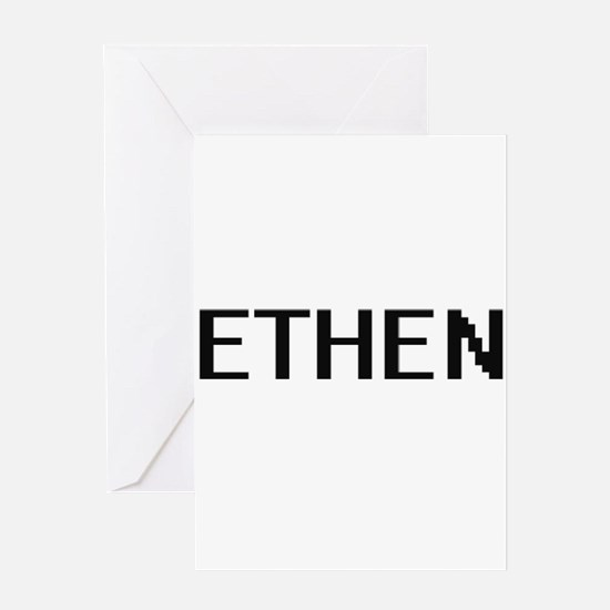 Ethen Digital Name Design Greeting Cards