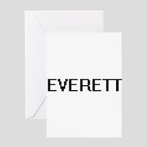 Everett Digital Name Design Greeting Cards