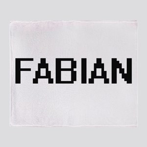 Fabian Digital Name Design Throw Blanket