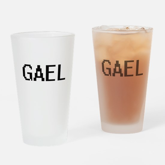 Gael Digital Name Design Drinking Glass