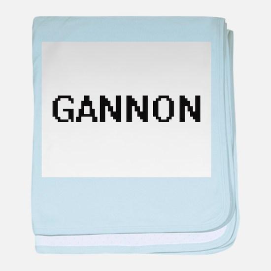Gannon Digital Name Design baby blanket