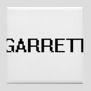 Garrett Digital Name Design Tile Coaster