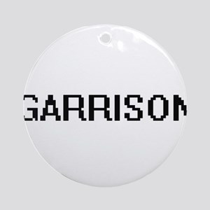 Garrison Digital Name Design Ornament (Round)