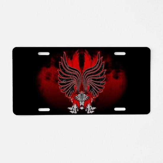 Dragon Gargoyle Tattoo Style Aluminum License Plat