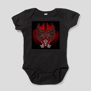 Dragon Gargoyle Tattoo Style Baby Bodysuit