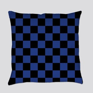 Blue Checkered Everyday Pillow