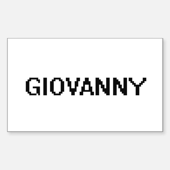 Giovanny Digital Name Design Decal