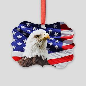 Bald Eagle Picture Ornament