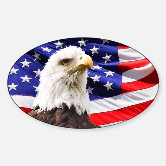Bald Eagle Sticker (Oval)