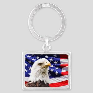 Bald Eagle Landscape Keychain