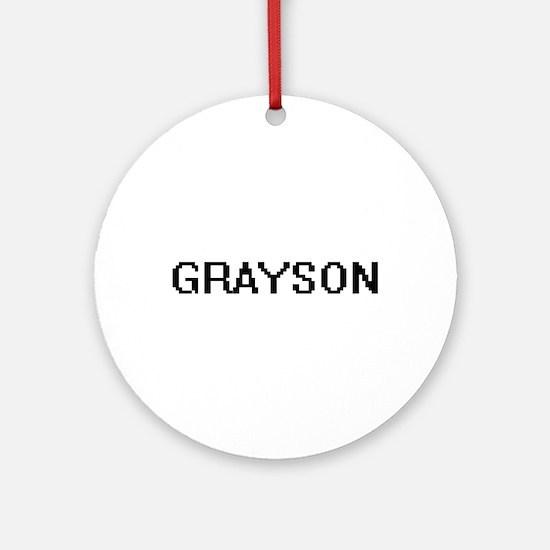 Grayson Digital Name Design Ornament (Round)