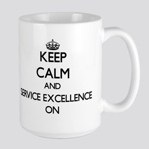 Keep Calm and SERVICE EXCELLENCE ON Mugs
