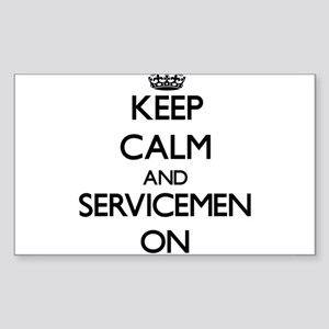 Keep Calm and Servicemen ON Sticker