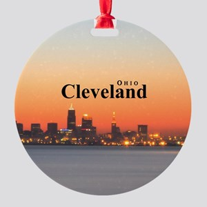 Cleveland Round Ornament