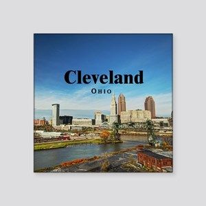 "Cleveland Square Sticker 3"" x 3"""
