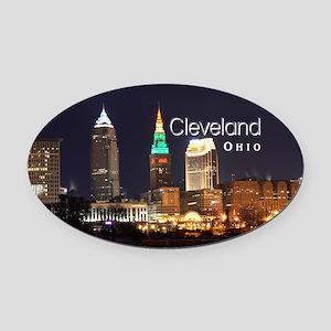 Cleveland Oval Car Magnet