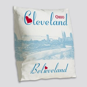 Cleveland Burlap Throw Pillow