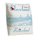 Cleveland Burlap Throw Pillow