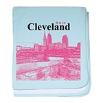 Cleveland baby blanket